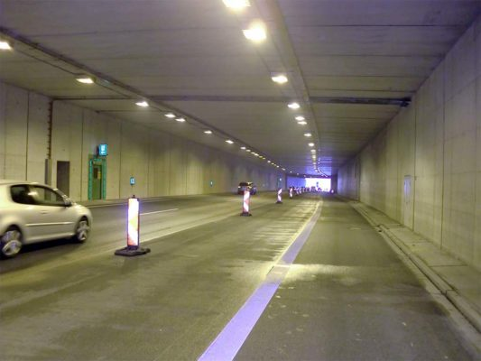 Mercatortunnel an der A59 Duisburg