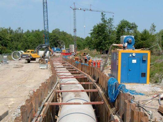 Stahlbetonrohrleitung Nattbach Gladbeck